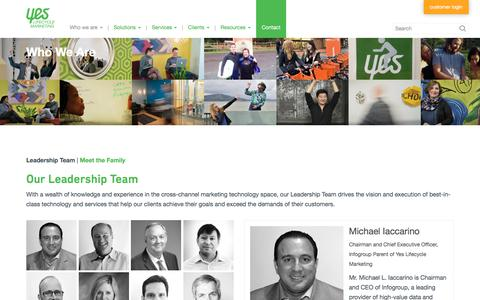 Screenshot of Team Page yeslifecyclemarketing.com - Leadership Team|Yes Lifecycle Marketing | Yesmail - captured March 15, 2018