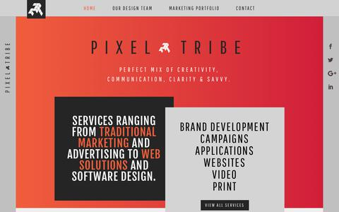 Screenshot of Home Page pixeltribe.com - Home - Pixel Tribe - captured July 18, 2018