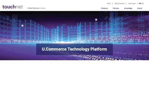 Screenshot of Products Page touchnet.com - U Commerce - captured Oct. 20, 2018