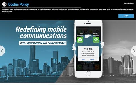 Screenshot of Trial Page pushtech.com - INTELLIGENT MULTICHANNEL COMMUNICATIONS - SMS, Push Notifications, IM, Chat and Email Cloud Services - PUSH Technologies - captured Oct. 1, 2014