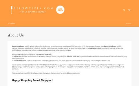 Screenshot of About Page belowcepek.com - About Us – belowcepek.com - captured Oct. 30, 2017