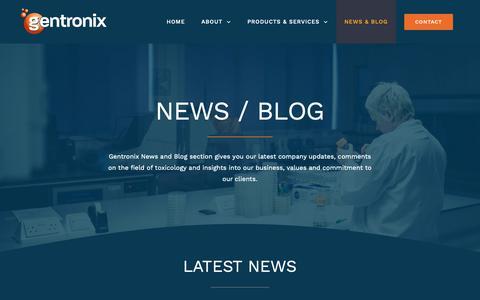 Screenshot of Blog gentronix.co.uk - BLOG - Gentronix - captured Nov. 3, 2018