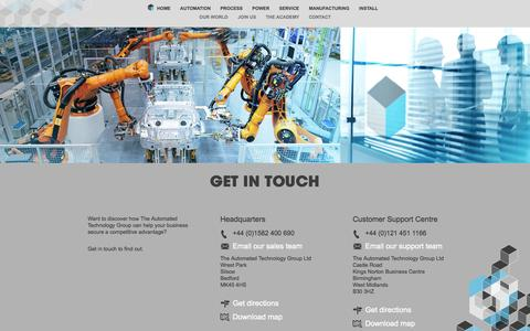 Screenshot of Contact Page atg.gb.com - The Automated Technology Group - Process Concept - captured Oct. 4, 2014