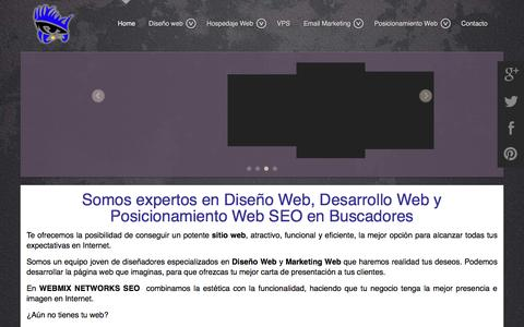 Screenshot of Home Page web-mix.ws - Diseño Web Chihuahua, Paginas Web, Seo Chihuahua, Posicionamiento Web,  - DISEÑO WEB - captured April 10, 2016