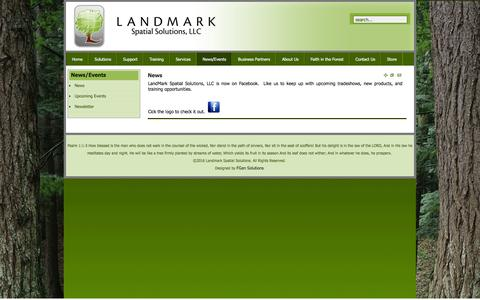 Screenshot of Press Page landmarkspatialsolutions.com - News | News - captured Jan. 25, 2016