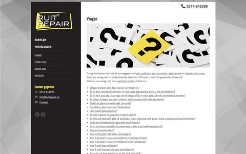 Screenshot of FAQ Page ruitrepair.nl - Vragen over glas herstel, glas polijsten en glasrenovatie. | Ruitrepair.nl - captured Sept. 21, 2018