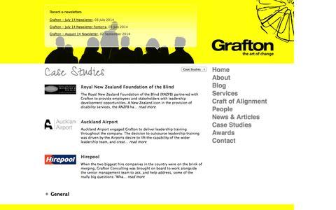 Screenshot of Case Studies Page grafton.co.nz - Case Studies - captured Oct. 3, 2014
