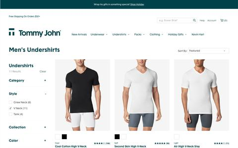 Shop Undershirts Online | Tommy John