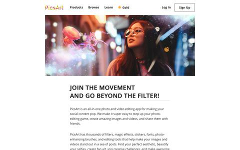 Screenshot of About Page picsart.com - About us - PicsArt - captured Jan. 17, 2020