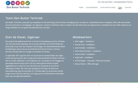 Screenshot of Team Page denbutter.nl - Team - Den Butter Techniek - captured Oct. 12, 2017