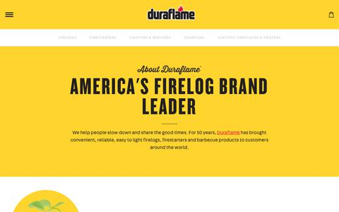 Screenshot of About Page duraflame.com - Duraflame | About - captured Oct. 9, 2018