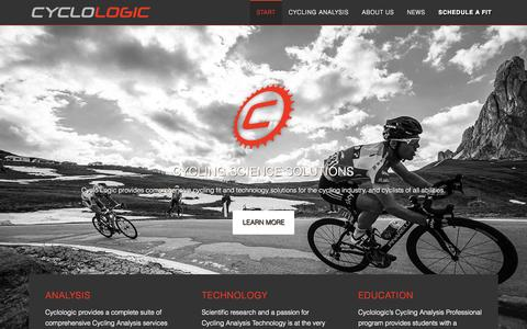 Screenshot of Home Page cyclologic.com - Cyclologic - Cycling Science Solutions - captured June 17, 2015