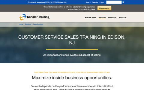 Screenshot of Support Page sandler.com - Customer Service / Inside Sales Training Solutions | Sandler Training - captured Oct. 18, 2018