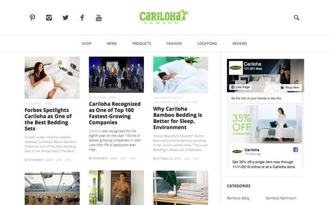 Screenshot of Blog cariloha.com - Blog, News, and Updates | Cariloha - - captured Nov. 10, 2019