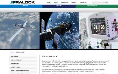 Screenshot of About Page fralock.com - Fralock - About Fralock, a Division of Lockwood Industries, Inc. - captured Jan. 8, 2016