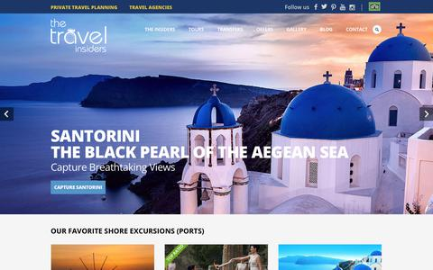 Screenshot of Home Page the-travel-insiders.com - THE TRAVEL INSIDERS | High Standard Travel Services in Greece - captured July 8, 2018