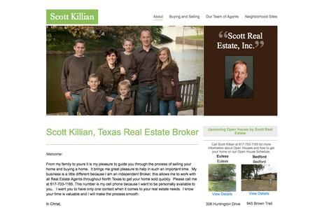 Screenshot of Home Page savewithscott.com - Bedford, Las Colinas, Hackberry Creek, Irving, Catholic Realtor, Valley Ranch, Homes for sale Euless, Grapevine-Colleyville, Southlake, Keller, Hurst mid-cities, Euless, DFW, Tarrant County - captured Oct. 1, 2014