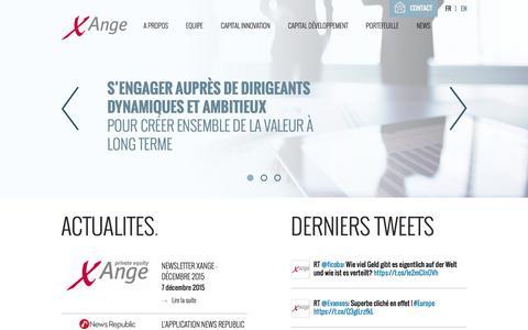 Screenshot of Home Page xange.fr - Accueil - xange - captured Jan. 17, 2016