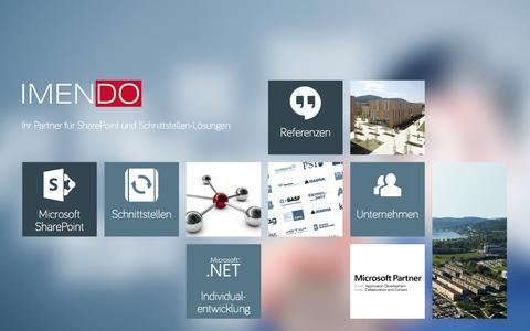 Screenshot of Home Page imendo.eu - Home - captured Oct. 3, 2014