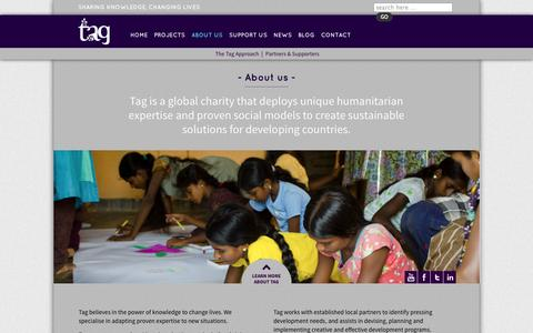 Screenshot of About Page tagdevelopment.org - About us | Tag - captured Oct. 7, 2014