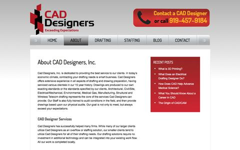 Screenshot of About Page cad-designers.com - About CAD Designers | CAD Drafting Services | CAD Staffing Services - captured July 11, 2017
