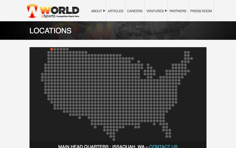 Screenshot of Locations Page theworldes.com - LOCATIONS – World eSports, LLC - captured Nov. 19, 2016