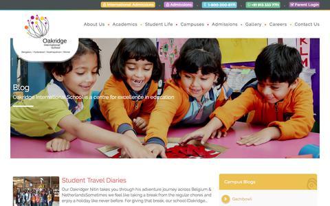 Screenshot of Blog oakridge.in - Oakridge Blog - Oakridge International School - captured June 22, 2017