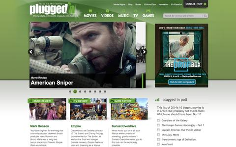 Screenshot of Home Page pluggedin.com - Plugged In - captured Jan. 14, 2015