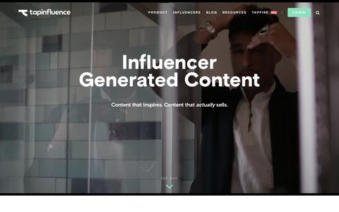 Screenshot of Home Page tapinfluence.com - Influencer Marketing Automation | TapInfluence - captured June 14, 2017