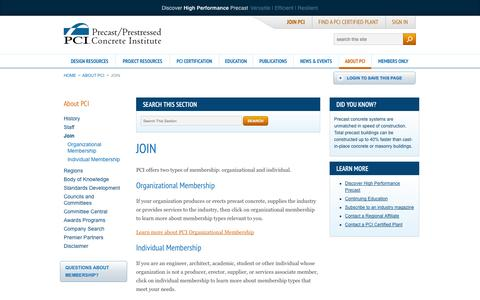 Screenshot of Signup Page pci.org - PCI | About PCI | Join - captured Sept. 24, 2014