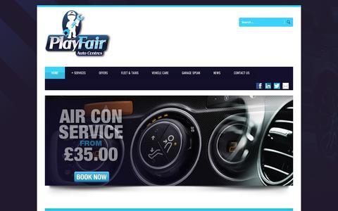 Screenshot of Home Page playfairltd.co.uk - PlayFair Playfair Ltd - Service, MOT Centre and garage Leeds - captured Oct. 2, 2014