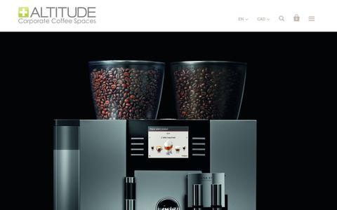 Screenshot of Home Page cafe-altitude.com - Cafe Altitude   Amazing Office Coffee - captured Feb. 5, 2016