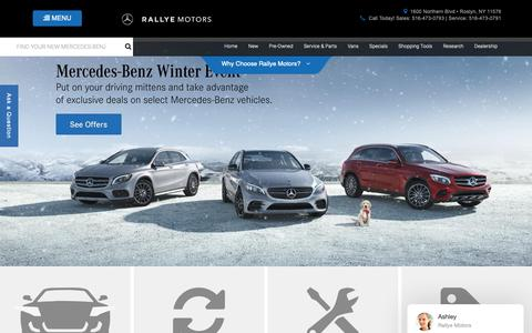 Screenshot of Home Page rallyemotors.com - Rallye Motors | Mercedes-Benz Dealership in Roslyn, NY - captured Nov. 15, 2018