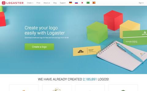 Screenshot of Home Page logaster.com - Free Logo Maker and Generator | Online Software for Design Logo | LOGASTER - captured Dec. 12, 2015