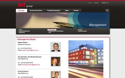 Screenshot of Team Page bitonline.com - Management «  bit gruppe «  Bit - best in Training « - captured Oct. 5, 2014
