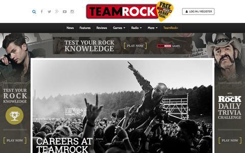 Screenshot of Jobs Page teamrock.com - TeamRock - captured July 16, 2015