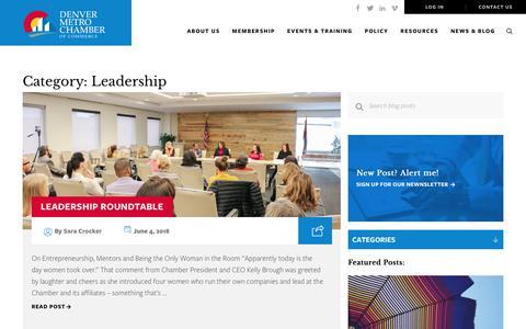 Screenshot of Team Page denverchamber.org - Leadership Archives - Denver Metro Chamber of Commerce - captured June 8, 2018