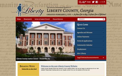 Screenshot of Contact Page libertycountyga.com - Home / Liberty County, Georgia - captured Oct. 2, 2014