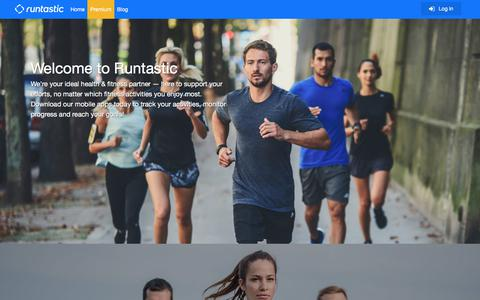 Screenshot of Home Page runtastic.com - Runtastic: Running, Cycling & Fitness GPS Tracker - captured Aug. 21, 2019