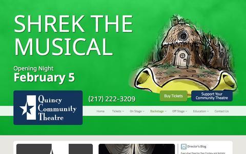 Screenshot of Blog 1qct.org - Blog | Quincy Community Theatre - captured Feb. 2, 2016