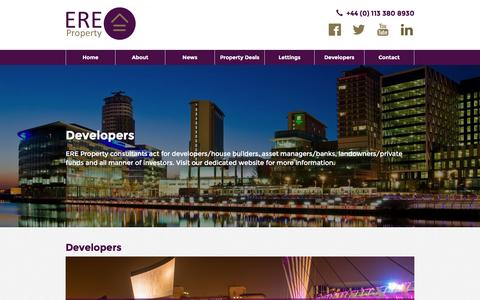 Screenshot of Developers Page ereproperty.com - Property Investment Opportunities with ERE Property | Real Estate Investment - captured Nov. 6, 2016