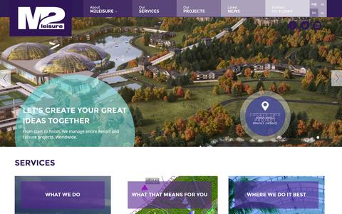 Screenshot of Home Page m2leisure.com - Leisure consultants worldwide | M2Leisure - captured Oct. 10, 2014
