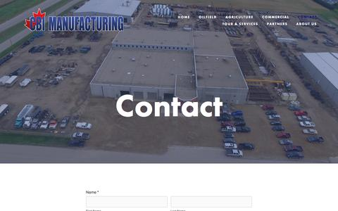 Screenshot of Contact Page cbi-mfg.com - CBI Manufacturing - captured July 7, 2017