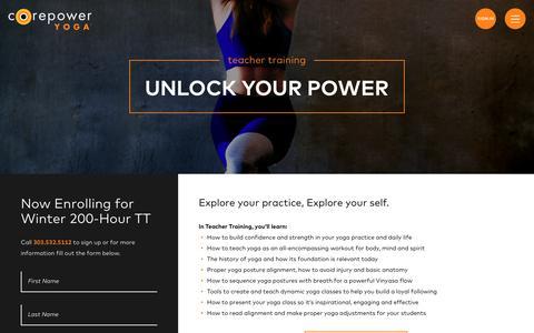 Yoga Teacher Training | CorePower Yoga