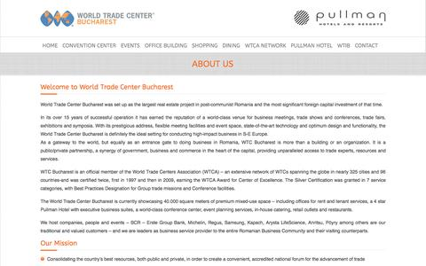 Screenshot of About Page wtcb.ro - About Us | World Trade Center Bucharest - captured Oct. 26, 2014