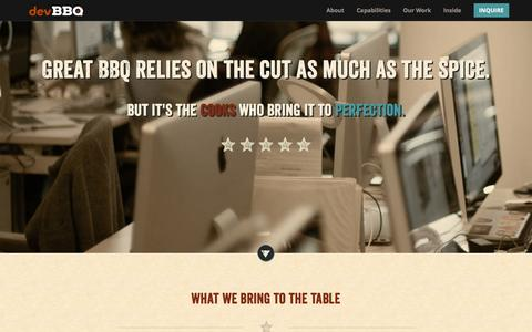 Screenshot of About Page devbbq.com - DevBBQ Inc. | About Us - captured Nov. 24, 2016