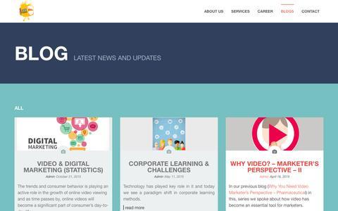 Screenshot of Blog easelstudios.com - Blog - Easel Studios - Video - eLearning - News -Easel Studios - captured Jan. 24, 2016