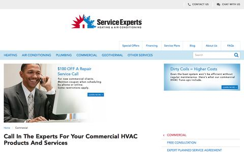 Commercial HVAC Products and Services in North America | Service Experts