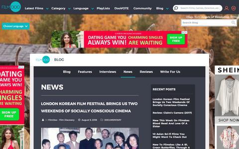 Screenshot of Press Page filmdoo.com - Latest News at FilmDoo - captured Aug. 13, 2018