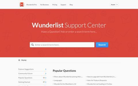 Wunderlist |        Portal